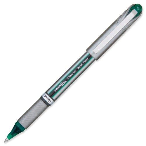 Pentel - Gel Pens, Metal Tip, Medium Point, Green, Sold as 1 Each, PENBL27D