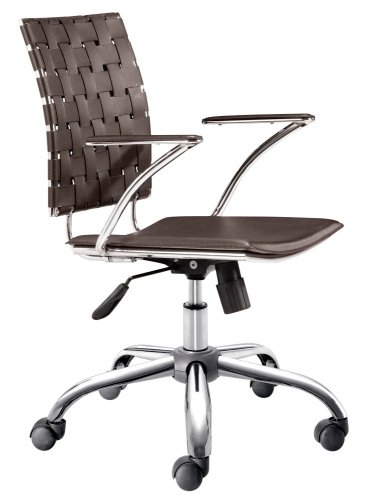 Leatherette Office Chair - Criss Cross Office Chair - Zuo Modern - 205032