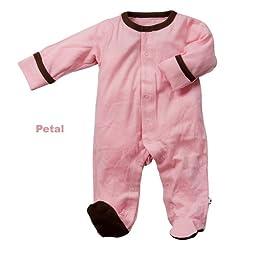 Babysoy Footie   (Baby) - Pink Lemonade-3-6 Months