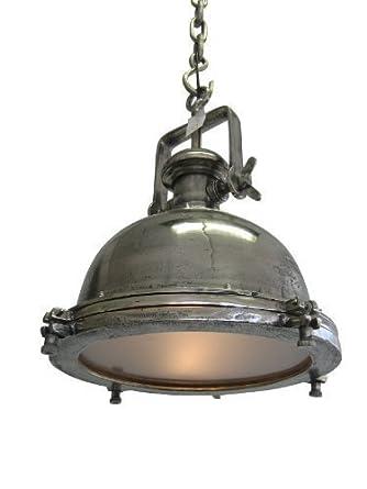 geniale deckenlampe modell 39 mirjam 39 im industrie design raw nickel beleuchtung. Black Bedroom Furniture Sets. Home Design Ideas