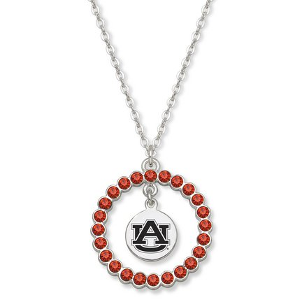 Auburn Tigers Spirit Crystal Logo Wreath Necklace at Amazon.com