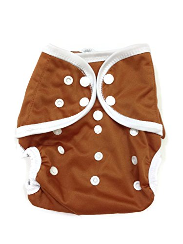 BB2 Baby One Size Solid Happy Leak-free Snaps Cloth Diaper Cover for Prefolds (One Size, Brown)