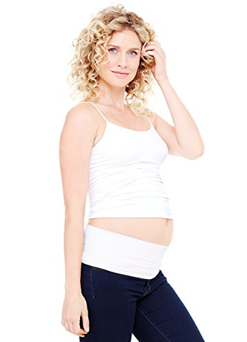 Ingrid & Isabel Women'S Bellaband Basic, White, Small/Medium front-613047