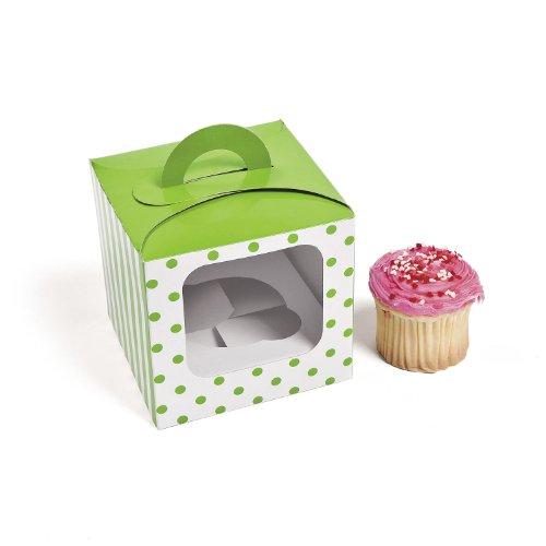 Lime Green Polka Dot Cupcake Boxes (12 Pc) front-977781