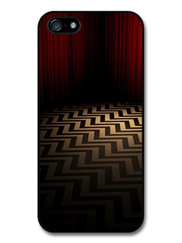 Twin Peaks TV Series Red Room with Optical Illusion Floor custodia per iPhone 5 5S