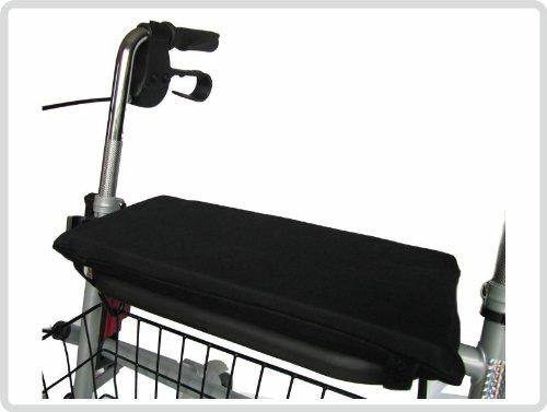 Sitzkissen für Rollator Rollatorkissen Rollatorsitzkissen - Schwarz