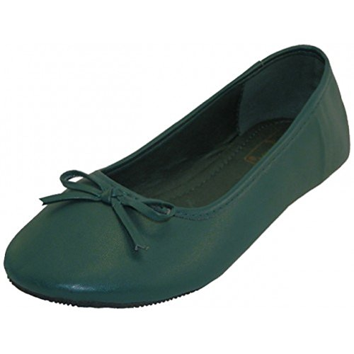 AimTrend Womens Ballet Dance Yoga Flat Shoes Dark Green-6 (Green Pointe Shoes compare prices)
