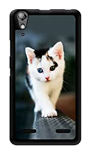 """Humor Gang Walking Cat Printed Designer Mobile Back Cover For """"Lenovo A6000 Plus"""" (3D, Glossy, Premium Quality Snap On Case)"""
