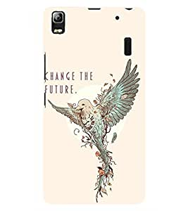 D KAUR Change The Future Back Case Cover for Lenovo A7000