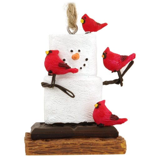 Midwest CBK S'Mores With Cardinals Christmas Ornament Home