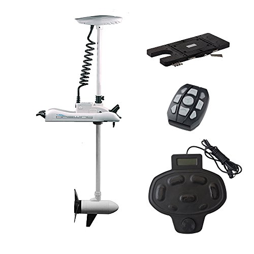Aquos haswing caymanb 12v 55lbs bow mount electric for Aquos trolling motor review