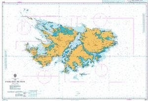 BA Chart 2512: The Falkland Islands islands in the stream