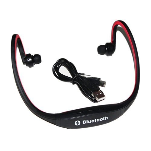 Sino Sports Wireless Bluetooth Headset Headphone Earphone For Cell Phone Iphone Laptop Pc(Red)