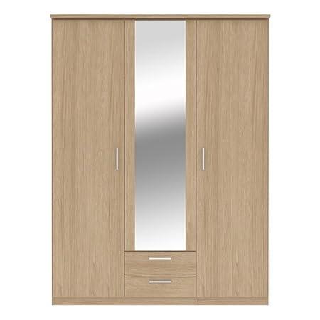 Bronte 3 Door 2 Drawer Mirrored Wardrobe