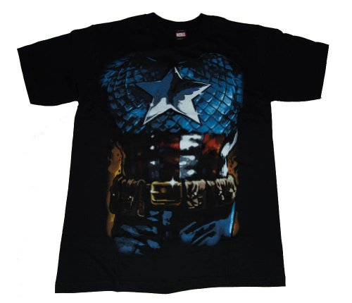 Officially Licensed Marvel Comics Captain America Costume T-Shirt