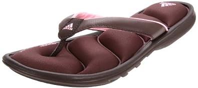 adidas Women's Chilwyanda FF Sandal,Mustang Brown/Espresso/Clear Light Pink,11 M US