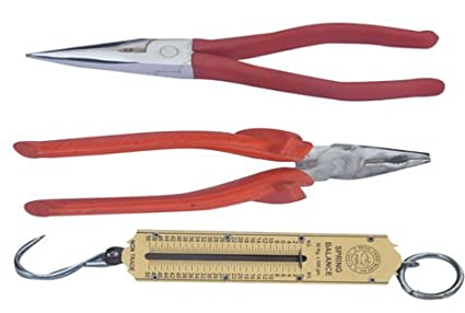 Long Nose Plier (7 Inch), Combination Plier (7 Inch) And Pocket Balance (50 Kg) Combo