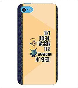 PrintDhaba Quote D-4749 Back Case Cover for APPLE IPHONE 5C (Multi-Coloured)