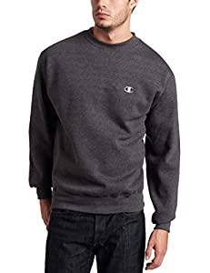 Champion Men's Pullover Eco Fleece Sweatshirt, Granite Heather, X-Large