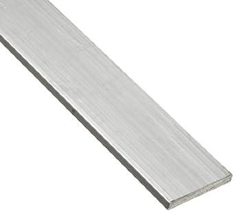6063 Aluminum Rectangular Bar, Unpolished (Mill) Finish, T52 Temper, Standard Tolerance, Inch, AMS QQ-A-200/9/ASTM B221
