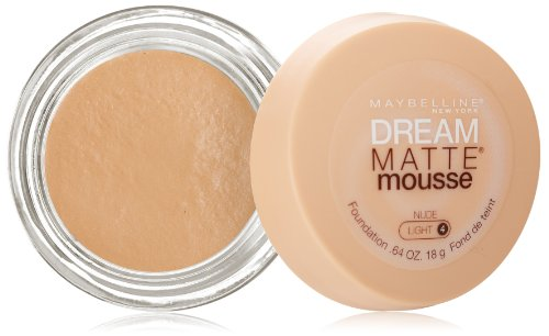 Maybelline New York Dream Matte Mousse Foundation, Nude, 0.64 Ounce