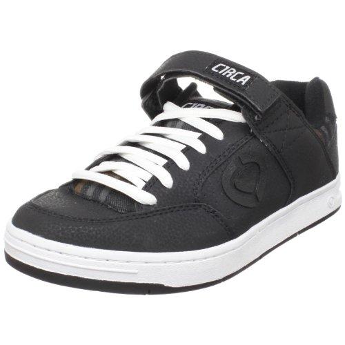 C1RCA Men's 205 Skate Shoe,Black/Black Oak Plaid,7 M US