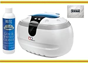 Sonic Wave Professional Ultrasonic Cleaner - Cleans Jewelry, Optics, Eyeglass, CD's, DVD's and Other Delicate Items , Blitz Jewelry and Gem Cleaner