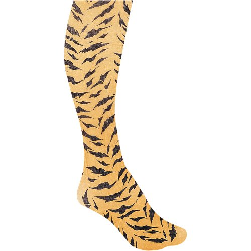 Ladies Tiger Design Tights Halloween Accessory