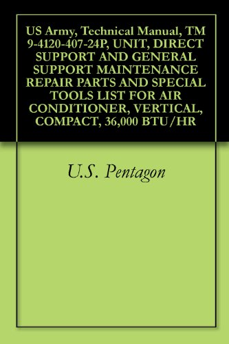 US Army, Technical Manual, TM 9-4120-407-24P, UNIT, DIRECT SUPPORT AND GENERAL SUPPORT MAINTENANCE REPAIR PARTS AND SPECIAL TOOLS LIST FOR AIR CONDITIONER, VERTICAL, COMPACT, 36,000 BTU/HR (36000 Btu Unit compare prices)