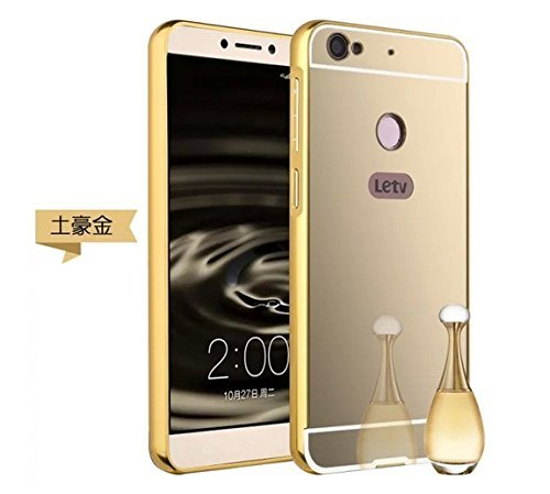 Le Tv Le 1S Luxury Gold Mirror Back Case For Le Tv Le 1S (BACK+BUMPER,CANARY GOLD)