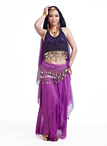 Dreamspell Belly Dancer Costume Set five pieces professional dancing indian style(5 items)