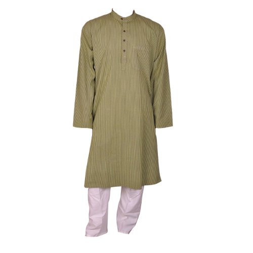 Mens Clothing Kurta Pajama Long Sleeve Cotton Dress Chest 111 Cms (L/44)