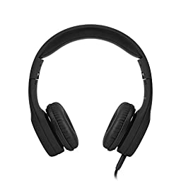 LilGadgets Connect Premium Volume Limited Wired Headphones with SharePort for Children, Black