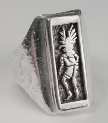 A Magnificent Sterling Silver Kachina Ring...Made in America