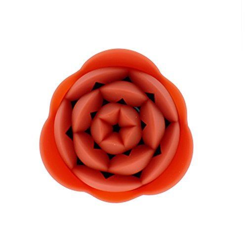 Litop Orange Mini Portable Speaker Rose Flower Shape With Built-In Rechargeable Battery For Cellphones Smart Phones Laptop Tablet Computer With 3.5Mm Audio Jack Iphone Macbook Samsung Apple Nokia Apple Hp Dell