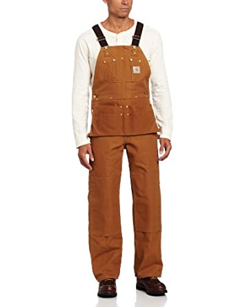 Carhartt Mens Duck Carpenter Bib Overall Unlined by Carhartt