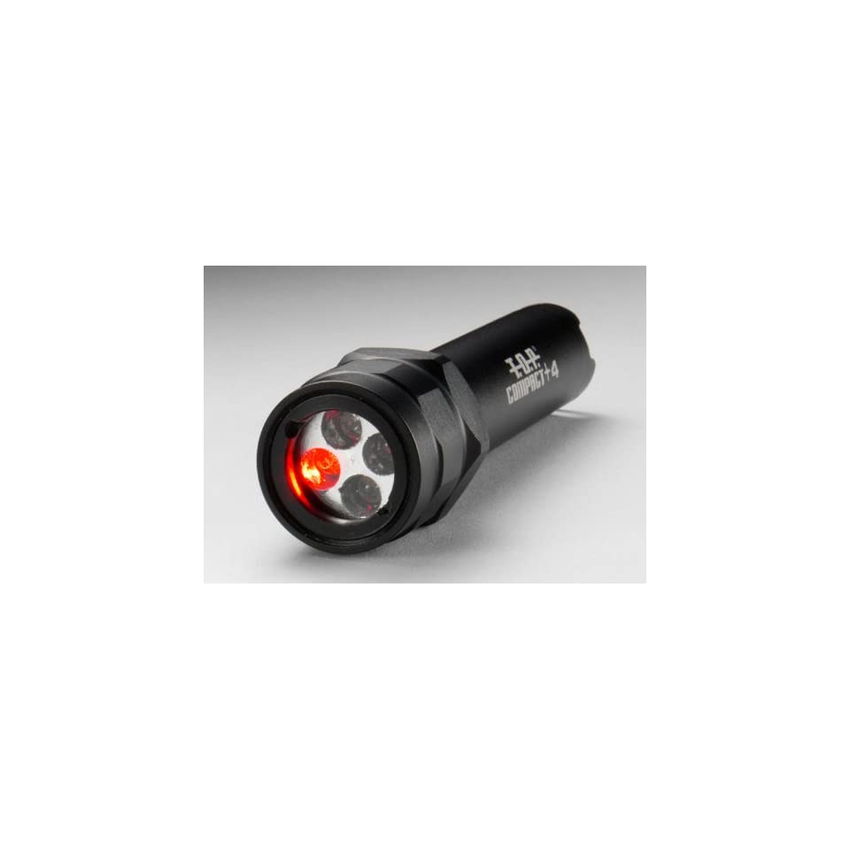 T.O.P. Compact +4 Tactical Multi Color LED Flashlight, Black Aluminum Body