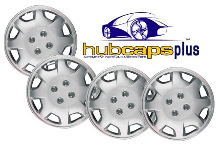 Set Of Four 15 Inch 2002, 2003, 2004, 2005 Kia Magentis (Canada) Hubcaps Wheel Covers With A Silver Finish