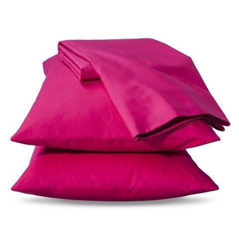 xhilaration-solid-sheet-set-hot-pink-size-queen