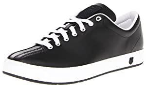 K-Swiss Men's Clean Classic Low Fashion Sneaker,Black/White,11 M US