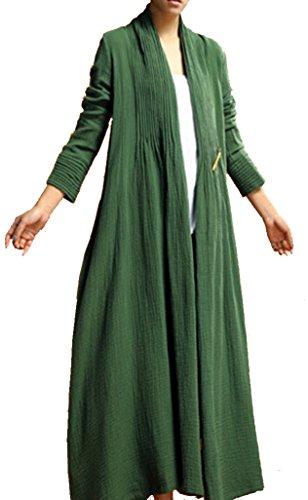 helan-womens-long-pure-color-elegant-ladies-coat-green-uk-one-size