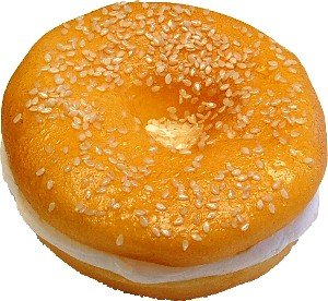 Cream Cheese Bagel Sesame Seed Fake Food USA