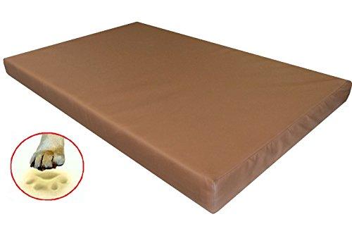 Luxury Orthopedic XLarge Waterproof Memory Foam Pad Dog Bed with Brown