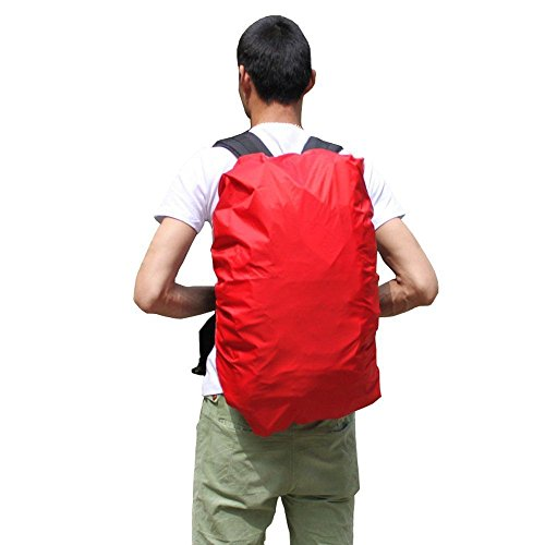 Pack Covers Camping Waterproof Backpack Dust Rain Proof Bag Suitcase Luggage Rucksack Cover waterproof backpack cover for women men Size 57-47 L Red (Ar15 Custom Dust Covers compare prices)