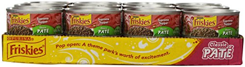 Friskies Cat Food Classic Pate, Supreme Supper, 5.5-Ounce Cans (Pack of 24)