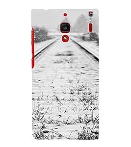 PrintVisa Travel Tracks Snow Design 3D Hard Polycarbonate Designer Back Case Cover for Xiaomi Redmi 1S