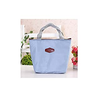 Lingstrar Picnic Lunch Box Bag Dining Travel Purse Zipper Handbags Gray from Lingstrar