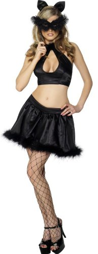 Fever Pussy Glamour Costume – Black – Ladies