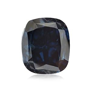 0.35Cts Fancy Deep Blue Loose Diamond Natural Color Cushion Shape GIA Cert