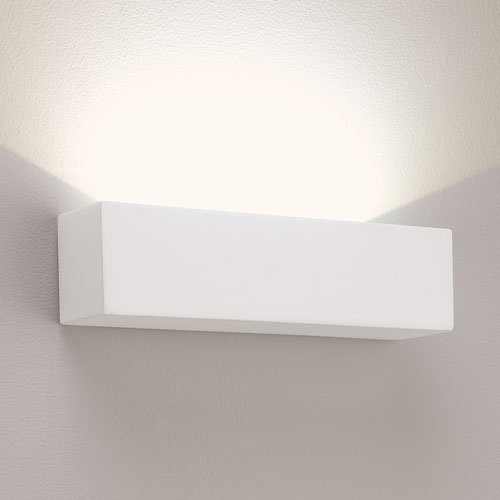 Astro 0887 Parma 250 Wall Light including 3 x 3 Watt LED, White Plaster